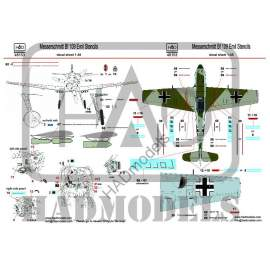 HADModels - 1:48 Messerschmitt Bf 109 Emil Stencil decal sheet