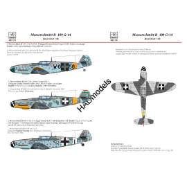 HADModels - 1:48 Messerschmitt Bf 109 G-14 (W0+58; Black 1; <2+I)