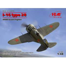 ICM - 1:48 I-16 type 28, WWII Soviet Fighter