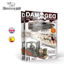 Damaged - Weathered & worn model magazine