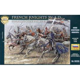 Zvezda 1:72 French knights (19 figures)