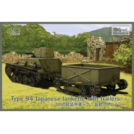 IBG Model Type 94 Japanese tankette with trailers (2 trailers in the box!)