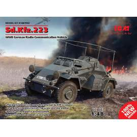 ICM 1:48 Sd.Kfz.223, German Radio Communication Vehicle