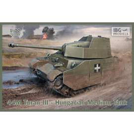 IBG Model 1:72 44M Turan III – Hugarian Medium Tank with sideskirts
