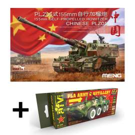 Meng Model - Chinese PLZ05 155mm Self Propelled Howitzer + PLA colors