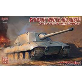 Modelcollect 1:72 Germany WWII E-100 Heavy Tank Ausf.C wit 128mm gun
