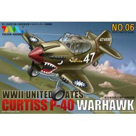 Tiger Model - Cute Plane WWII United States - Curtiss P40 Warhawk
