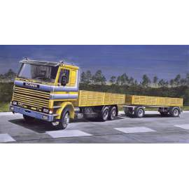 Italeri 1:24 SCANIA 142M Flatbed Truck and Trailer