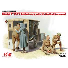 ICM 1:35 Model T 1917 Ambulance with US Medical Personnel