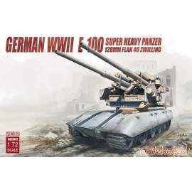 Modelcollect 1:72 German WWII E-100 super heavy panzer with 128mm flak 40