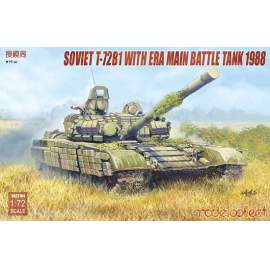 Modelcollect 1:72 Soviet T-72B1 with ERA main battle tank 1988
