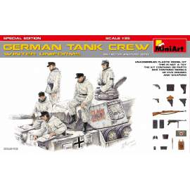 Miniart 1:35 German Tank Crew (Winter Uniforms). Special Edition