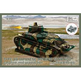 IBG Model 1:72 TYPE89 Japanese Medium tank KOU - Gasoline, Mid-production