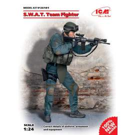 ICM 1:24 S.W.A.T. Team Fighter figura makett