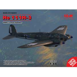ICM 1:48 He 111H-3, WWII German Bomber (100% new molds)