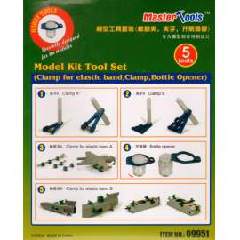 Trumpeter - Model Kit Tool Set (Clamp for elastic band,Clamp,Bottle Opener)