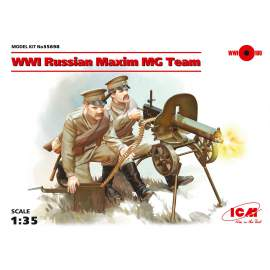 ICM 1:35 WWI Soviet Maxim MG Team (2 figures) figura makett