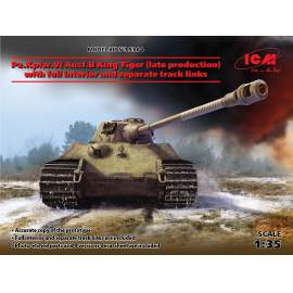 ICM 1:35 Pz.Kpfw.VI Ausf.B King Tiger (late production) harcjármű makett