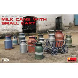 Miniart 1:35 Milk Cans with Small Cart