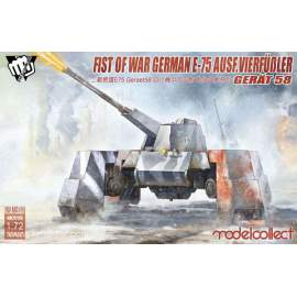 Modelcollect 1:72 Fist of War German WWII E75 Ausf. vierfubler Gerat 58
