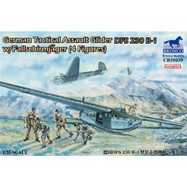 Bronco 1:35 German Tactical Assault Glider DFS 230 B-1 with 4 Figures