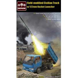 Diopark 1:35 Filed-Modified Civilian Truck with 122mm Rocket Launcher