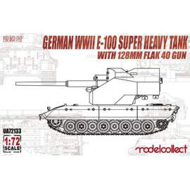 Modelcollect 1:72 German WWII E100 Super heavy tank with 128mm FLAK 40