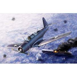 "Academy 1:48 SB2U-3 Vindicator ""Battle of Midway"" repülő makett"