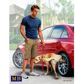 Masterbox 1:24 Bart and Radley (dog). What he really thinks of your car.