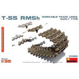 Miniart 1:35 T-55 RMSh Workable Track Links. Early Type