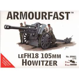 Armourfast 1:72 LeFH18 105mm with crew harcjármű makett
