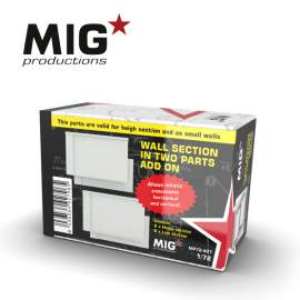 MIG Productions 1:72 Wall Section In Two Parts Add On