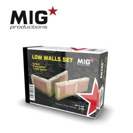 MIG Productions 1:72 Low wall sets