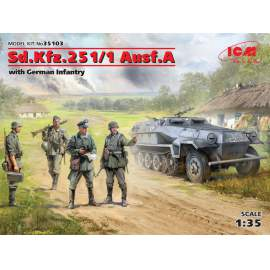ICM 1:35 Sd.Kfz.251/1 Ausf.A with German Infantry