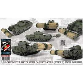 AFV-Club 1:35 Churchill Mk.IV w.Carpet Layer(TypeB) harcjármű makett