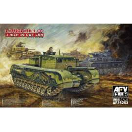 AFV-Club 1:35 British 3 inch gun Churchill tank harcjármű makett