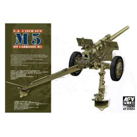 AFV-Club 1:35 3in1 Gun M5 On Carriage M1 harcjármű makett