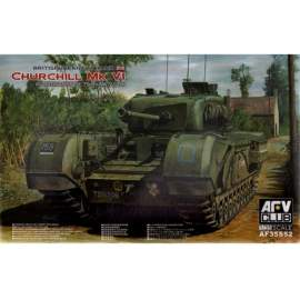 AFV-Club 1:35 Churchill MK VI/75mm GUN (Limited) harcjármű makett