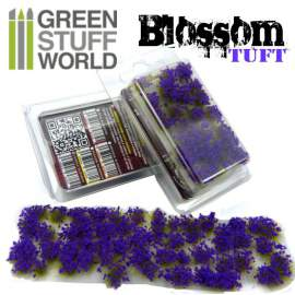 Green Stuff World Blossom TUFTS - 6mm PURPLE Flowers