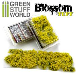 Green Stuff World Blossom TUFTS - 6mm YELLOW Flowers