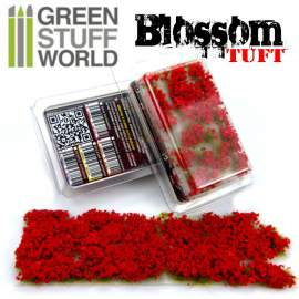 Green Stuff World Blossom TUFTS - 6mm Red Flowers
