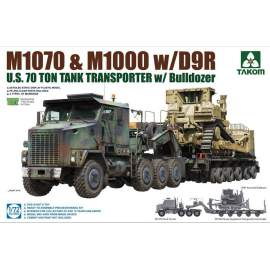 Takom 1:72 M1070 Tank Transporter with D9R Dooby
