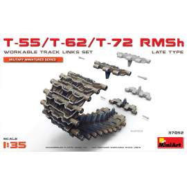 Miniart 1:35 T-55/T-62/T-72 RMSh Workable Track Links Set.Late Type