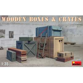 Miniart 1:35 Wooden Boxes & Crates