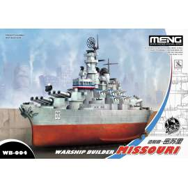 Meng Model - Warship Builder Missouri (Cartoon Model)