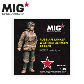 MIG Productions 1:35 Russian tanker wearing german parker WWII