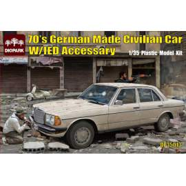 Diopark 1:35 German Made Civilian Car w/IED Accessories