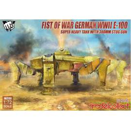 Modelcollect 1:72 Fist of War German WWII E-100 Super Heavy Tank with 380mm