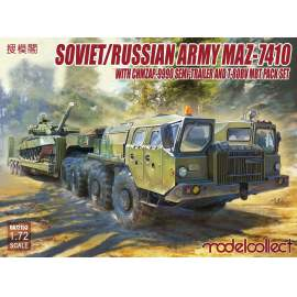 Modelcollect 1:72 Soviet/Russian Army MAZ-7410 with ChMZAP 9990 Semi-Traile