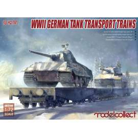 Modelcollect 1:72 WWII German Tank Transport Trains
